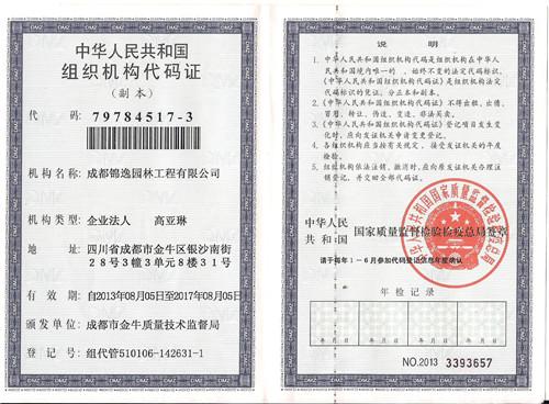 机构代码证(副本)