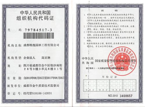 机构代码证(正本)